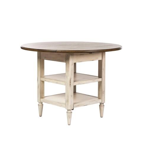 Havenside Home Diggs Antique White Drop Leaf Dinette Table