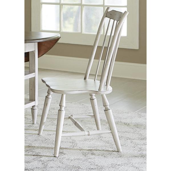 Oak hill farmhouse windsor back dining chair free