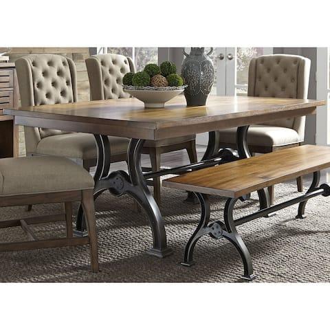 Arlington House Cobblestone Brown Dinette Table