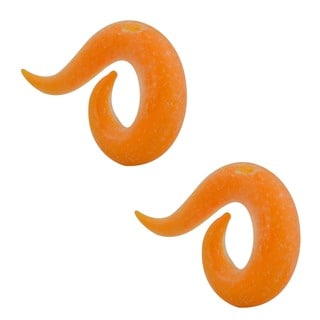 Supreme Jewelry & Accessories Orange Glow/Dark Frosted Glass Spiral Plug Pair
