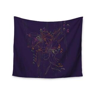 Kess InHouse Karina Edde 'Hibiscus' Purple Abstract51x60-inch Wall Tapestry