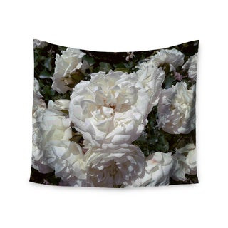 Kess InHouse Julia Grifol 'Flores Blancas' 51x60-inch Wall Tapestry
