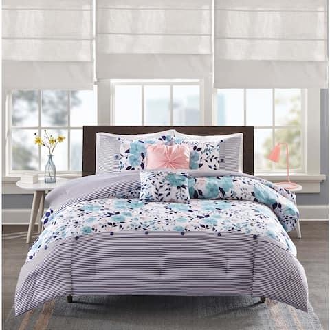 Intelligent Design Tiffany Blue 5-piece Comforter Set