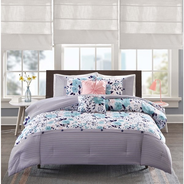 Shop Intelligent Design Tiffany Blue 5 Piece Comforter Set On Sale