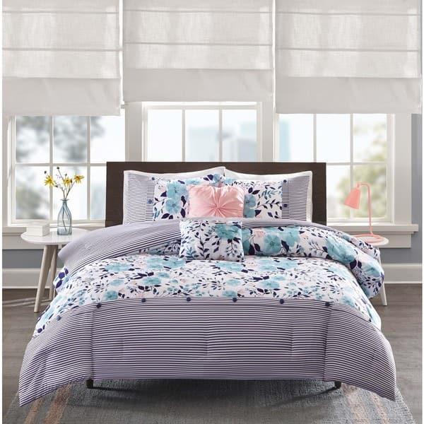Shop Intelligent Design Tiffany Blue 5-piece Comforter Set ...