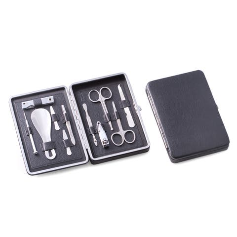 Leather 10-piece Grooming Set