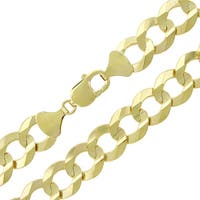 """14k Yellow Gold 14mm Solid Cuban Curb Link Necklace Chain 26"""" - 30"""""""