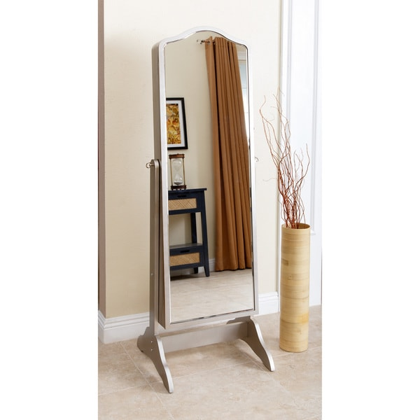 Abbyson Sophie Standing Mirror and Jewelry Armoire