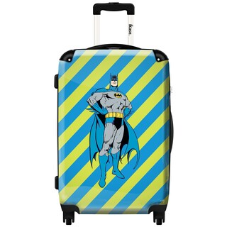 iKase Batman Stripes Backround 20-inch Fashion Hardside Carry On Spinner Suitcase