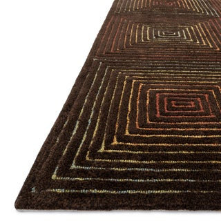 Indoor/ Outdoor Hand-hooked Somerset Geometric Multi Rug (7'9 x 9'9)