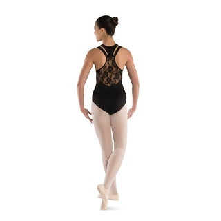 Danshuz Racer Back with Lace Accent Leotard