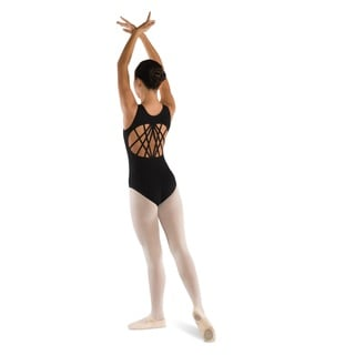 "Danshuz The Perfect ""10"" Multi-strap Black Leotard."