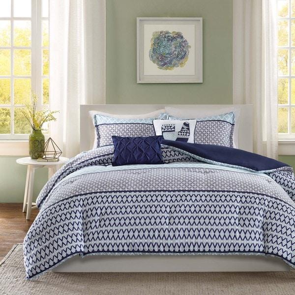 Intelligent Design Clarissa Blue 5-piece Comforter Set