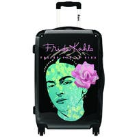 iKase Frida Kahlo Self Portrait With Pink Hair  ,Carry-on 20-inch,Hardside, Spinner Suitcase