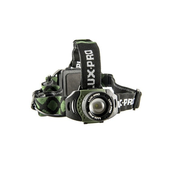 LuxPro 355 Black/Green Plastic 300-lumen Focusing Headlamp