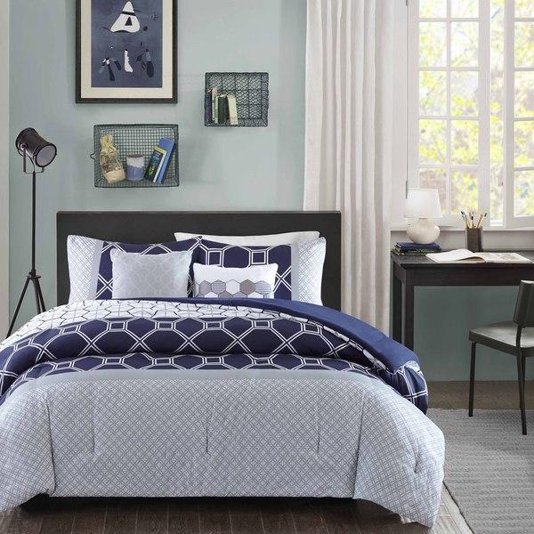Intelligent Design Zara Navy Comforter Set