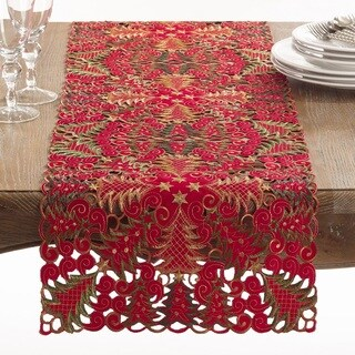 Panettone Collection Holiday Christmas Tree Cutwork Table Runner