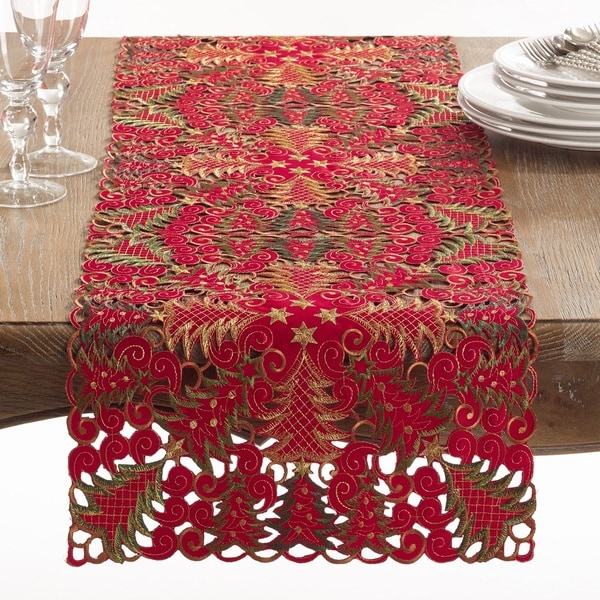 Panettone Collection Holiday Christmas Tree Cutwork Table Runner. Opens flyout.