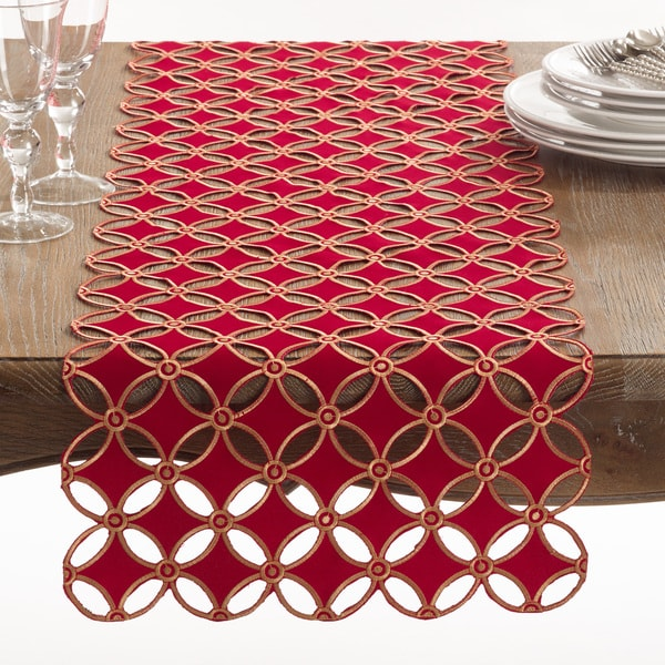 Buche de Noel Collection Holiday Cutwork Design Table Runner