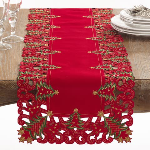 Christmas Trees Holiday Table Runner
