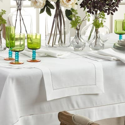Rochester Collection Table Runner with Hemstitched Border