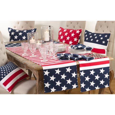 Star Spangled American Flag Design Table Runner