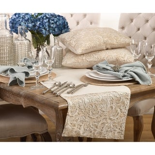 La Rochelle Collection Cotton Lace Design Table Runner