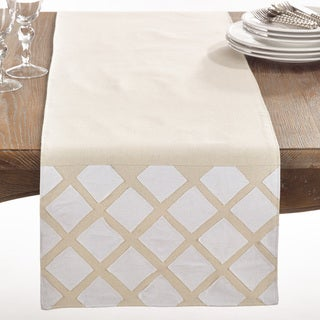 Paros Collection Applique Design Cotton Table Runner