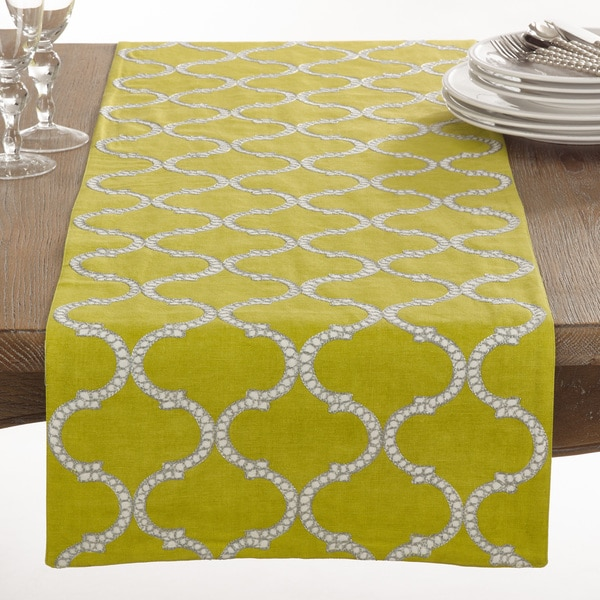 Exceptionnel Dastan Collection Stitched Lattice Design Table Runner