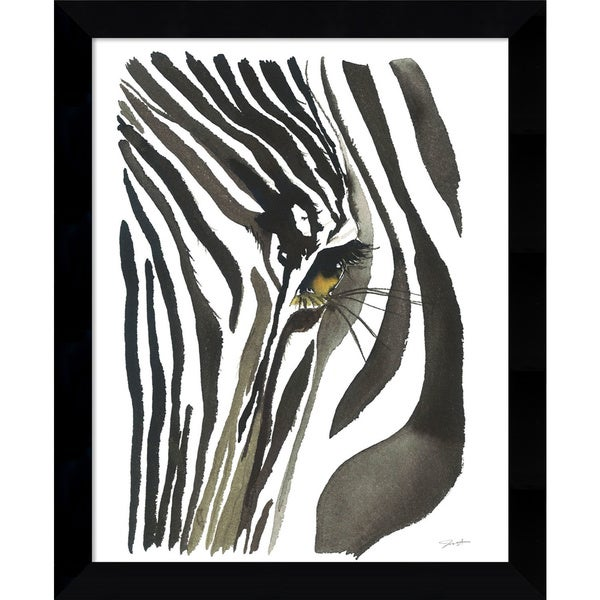 Shop Framed Art Print \'Zebra Eye\' by Jessica Durrant 9 x 11-inch ...