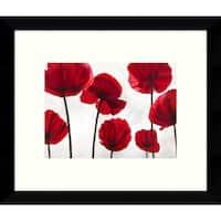 Framed Art Print 'Red Friends (Poppies)' by Luca Villa 11 x 9-inch