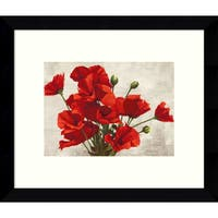 Framed Art Print 'Bouquet of Poppies' by Jenny Thomlinson 11 x 9-inch