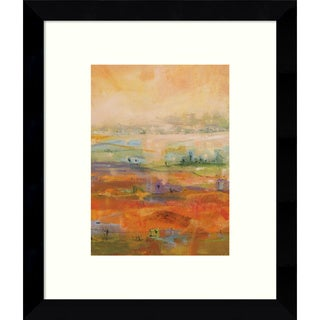 Tebo Marzari 'Country Village II' 9 x 11-inch Framed Art Print