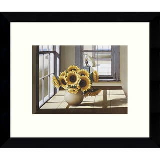 Framed Art Print 'Sunflowers' by Zhen-Huan Lu 11 x 9-inch