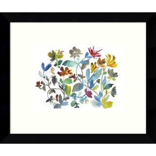 Kiana Mosley 'Peregrine Garden (Floral)' 11 x 9-inch Framed Art Print