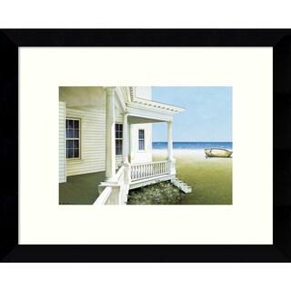 Zhen-Huan Lu 'Deserted Coastal Cottage' 11 x 9-inch Framed Art Print