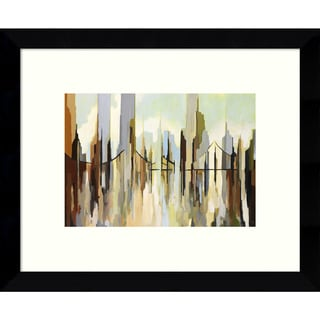 Framed Art Print 'Skyscraper City' by Gregory Lang 11 x 9-inch