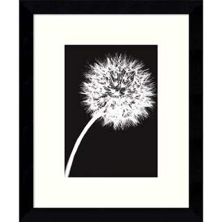 Jenny Kraft Dandelion Tilt (Black) 9 x 11-inch Framed Art Print