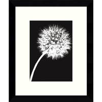 Framed Art Print 'Dandelion Tilt (Black)' by Jenny Kraft 9 x 11-inch