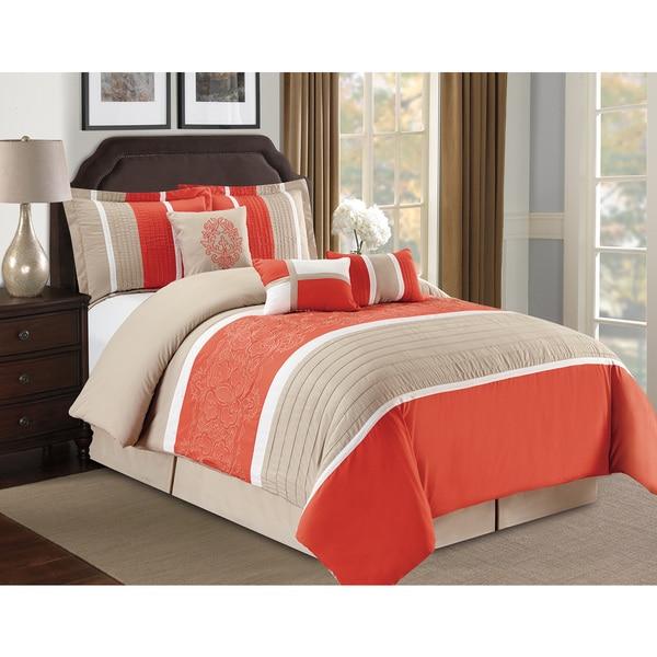 Fashion Street Famatta Embroidered 7-piece Comforter Set