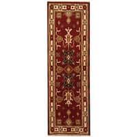 Herat Oriental Indo Hand-knotted Kazak Wool Runner - 2'2 x 6'7