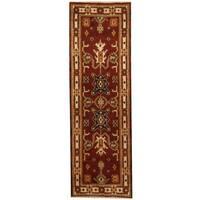 Herat Oriental Indo Hand-knotted Kazak Wool Runner (2'1 x 6'6)