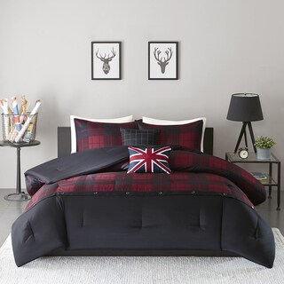 Intelligent Design Hunter Red/Black 5-piece Comforter Set