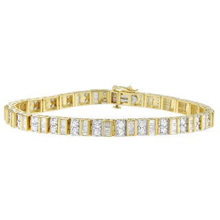 10k Yellow or White Gold 4ct TDW Diamond Tennis Bracelet (I-J, I1-I2)