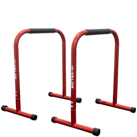 Valor Fitness EB-28 Non-Slip Dip Station Stands for Bodyweight Exercises  Perform Dips, L-Sits, Push Ups, Pull Ups, and More