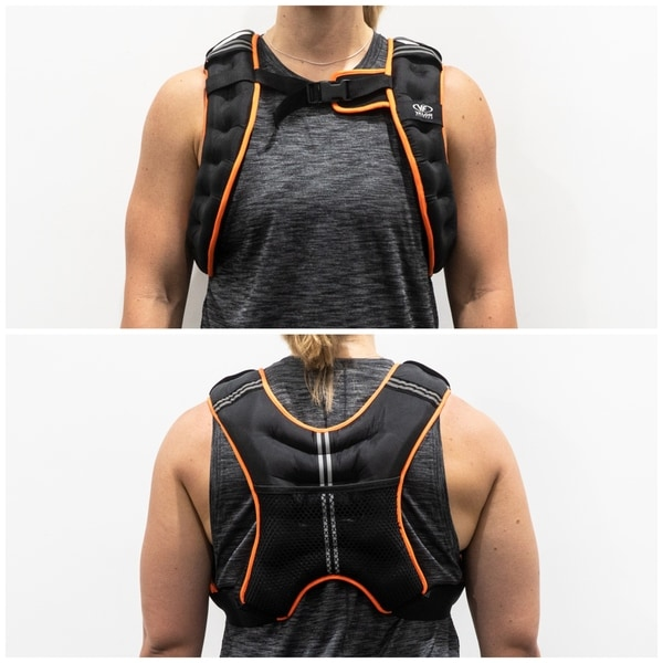 Toning Valor Fitness EH-18 Adjustable 18 lb Weight Vest for Cross Training Strength Training and More Running
