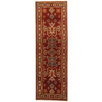Herat Oriental Indo Hand-knotted Kazak Wool Runner (2'2 x 6'6) - 2'2 x 6'6