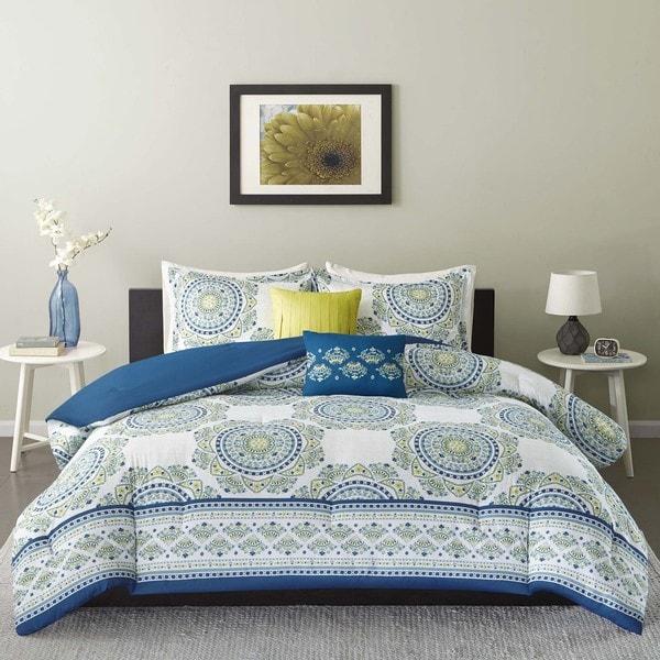 Intelligent Design Mikay Aqua 5-piece Comforter Set