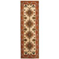 Handmade Herat Oriental Indo Kazak Wool Runner (India) - 2'2 x 6'8