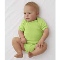 Rabbit Skins Infant Key Lime Cotton Rib Lap-shoulder Bodysuit